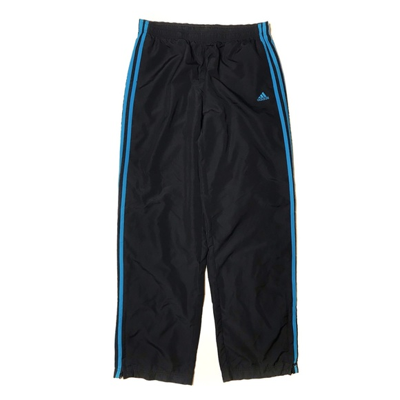 Adidas Blue Striped Windbreaker Pants